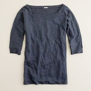 J. Crew Whisper Linen Boatneck Tee Small NWT